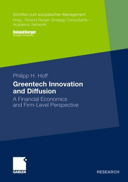 Greentech Innovation and Diffusion