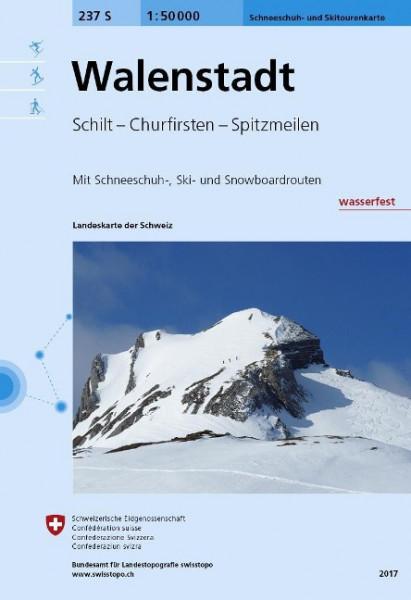 Swisstopo 1 : 50 000 Walenstadt Ski