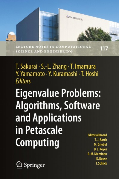 Eigenvalue Problems: Algorithms, Software and Applications, in Petascale Computing
