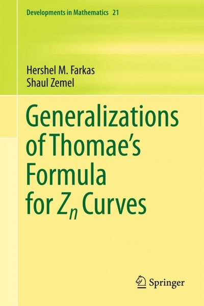 Generalizations of Thomae's Formula for Zn Curves