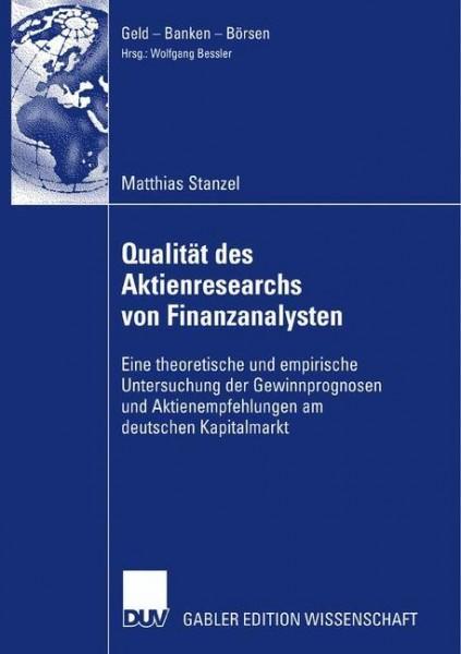 Qualität des Aktienresearch von Finanzanalysten