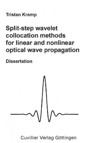 Split-step wavelet collocation methods for linear and nonlinear optical wave propagation