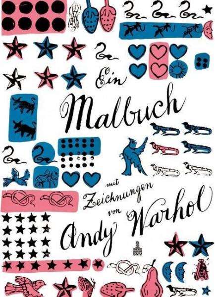 Ein Malbuch mit Zeichnungen von Andy Warhol