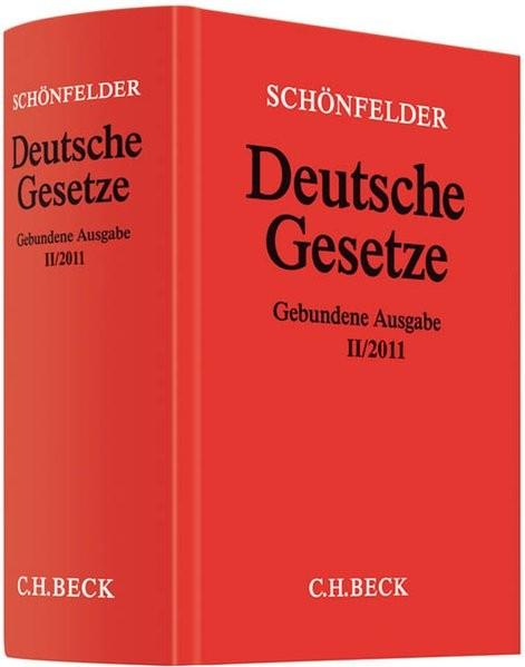Deutsche Gesetze Gebundene Ausgabe II/2011: Rechtsstand: 8. September 2011
