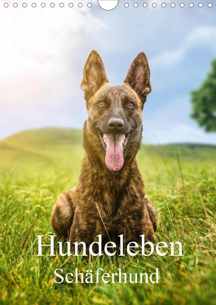 Hundeleben Schäferhund (Wandkalender 2020 DIN A4 hoch)