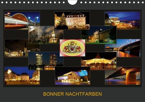 BONNER NACHTFARBEN (Wandkalender 2020 DIN A4 quer)
