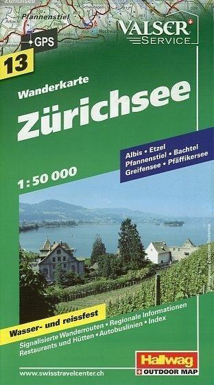 Wanderkarte Zürichsee 1 : 50 000