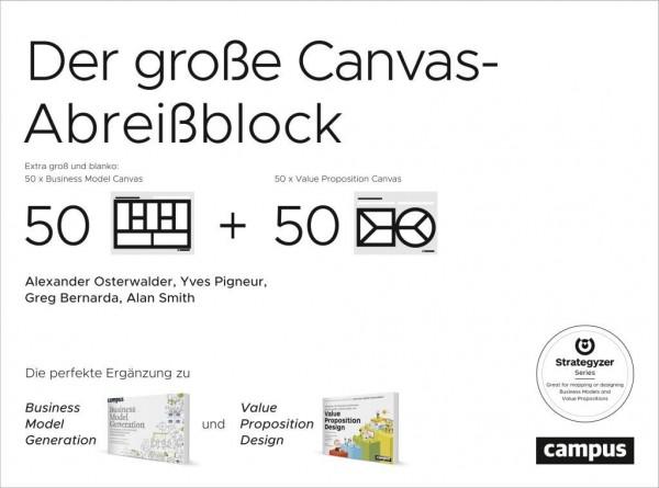 Der große Canvas-Abreißblock