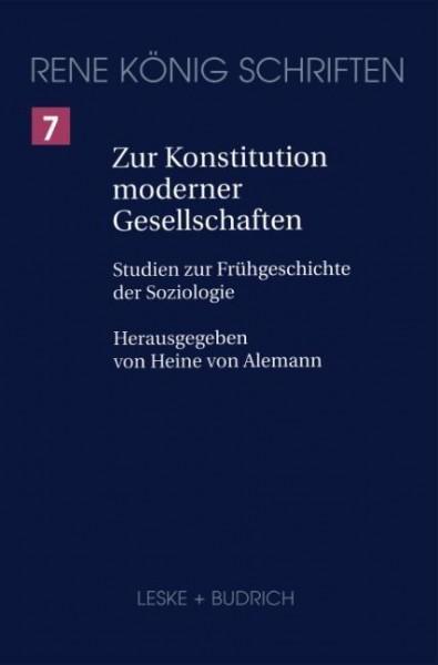 Zur Konstitution moderner Gesellschaften