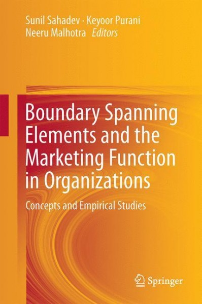 Boundary Spanning Elements and the Marketing Function in Organizations
