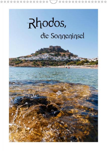 Rhodos, die Sonneninsel (Wandkalender 2020 DIN A3 hoch)