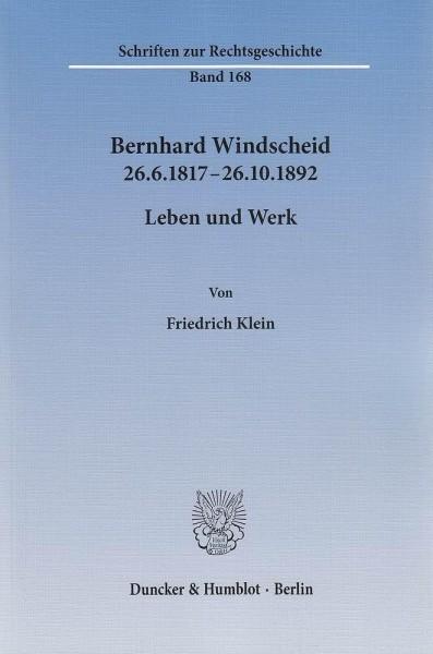 Bernhard Windscheid 26.6.1817-26.10.1892