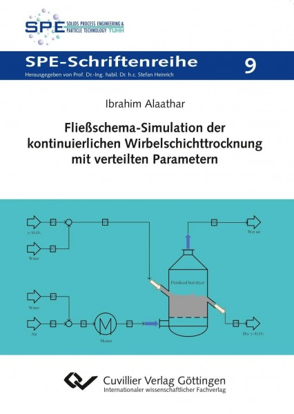 Fließschema-Simulation der kontinuierlichen Wirbelschichttrocknung mit verteilten Parametern