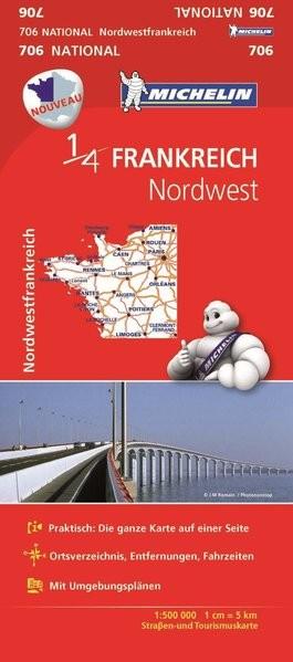 Michelin Nordwestfrankreich: Straßen- und Tourismuskarte Frankreich 1:500.000 (Michelin Nationalkart