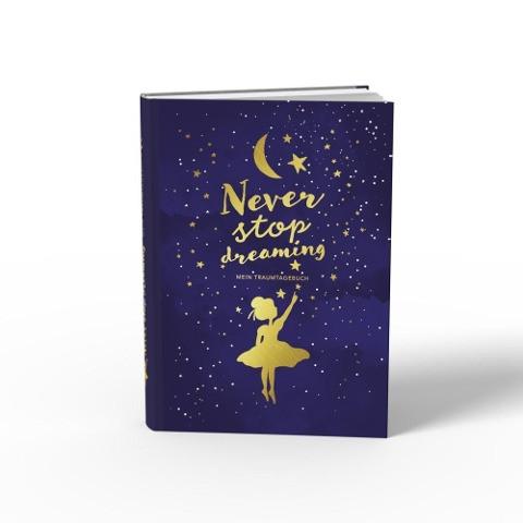 Traumtagebuch für deine Träume - das Tagebuch für luzide Träume, Klarträume, Tagträume und Albträume. Hardcover Buch mit Goldfolie in 155x225 mm und zwei Lesebändern in Gold und Blau. Stay Inspired! b