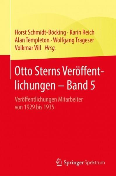Otto Sterns Veröffentlichungen - Band 5