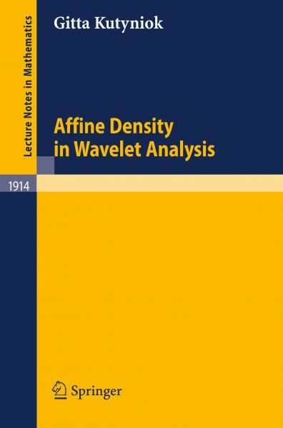 Affine Density in Wavelet Analysis