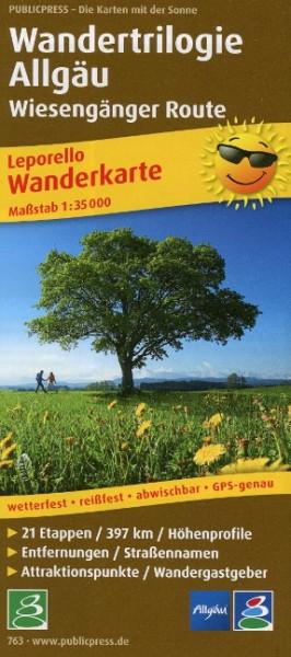 Wanderkarte Wandertrilogie Allgäu - Wiesengänger 1 : 35 000