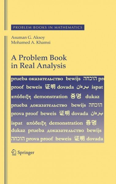 A Problem Book in Real Analysis