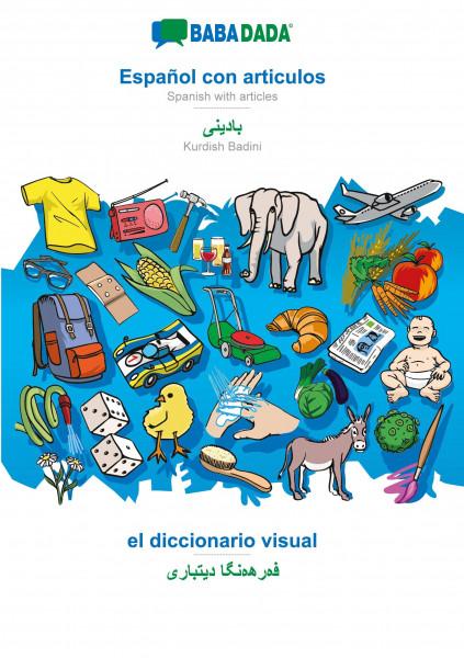 BABADADA, Español con articulos - Kurdish Badini (in arabic script), el diccionario visual - visual