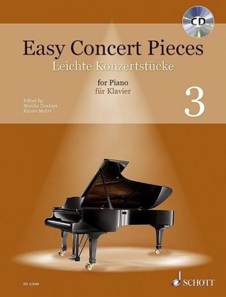 Easy Concert Pieces. Klavier Band 3. Ausgabe mit CD