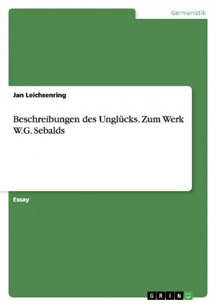 Beschreibungen des Unglücks. Zum Werk W.G. Sebalds