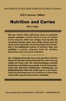 Nutrition and Caries