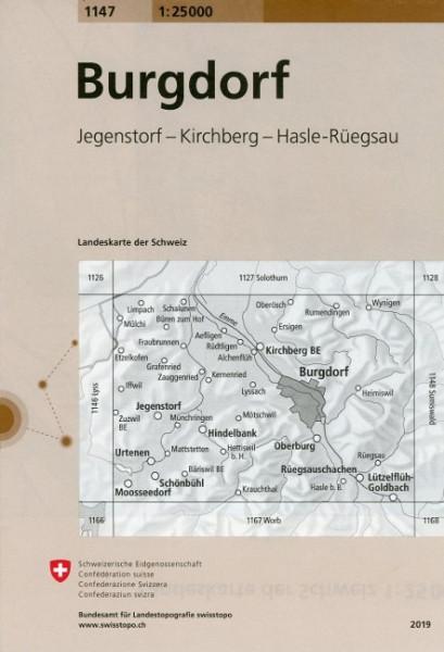 Swisstopo 1 : 25 000 Burgdorf
