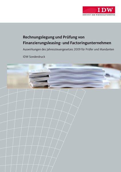 Rechnungslegung und Prüfung von Finanzierungsleasing- und Factoringunternehmen