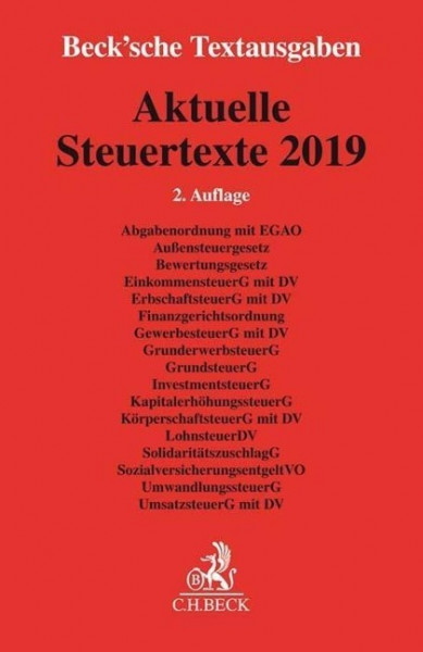 Aktuelle Steuertexte 2019
