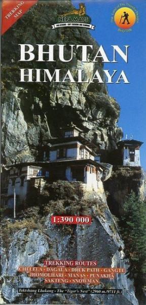Bhutan Himalaya 1 : 390 000