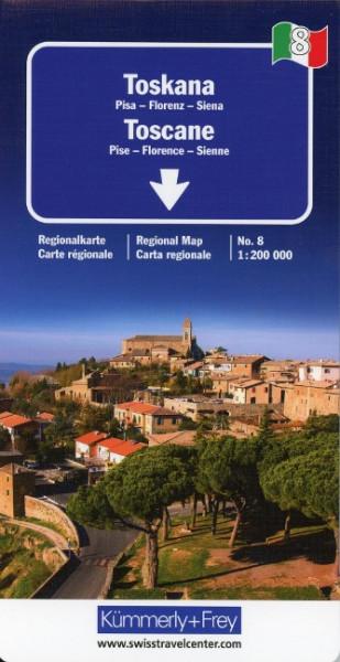 KuF Italien Regionalkarte 08. Toskana 1 : 200 000