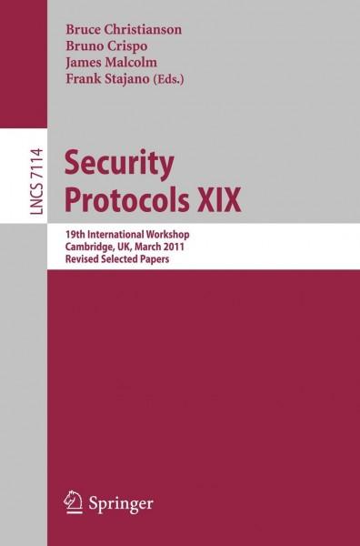 Security Protocols XIX