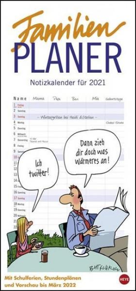 Butschkow Familienplaner - Kalender 2021
