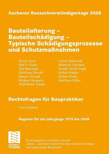 Aachener Bausachverständigentage 2008
