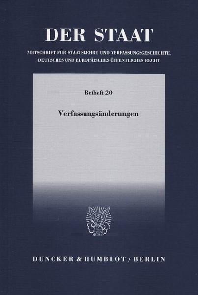 Verfassungsänderungen