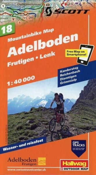 Mountainbike-Karte 18 Adelboden 1 : 40 000