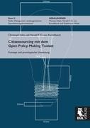 Citizensourcing mit dem Open Policy-Making Toolset