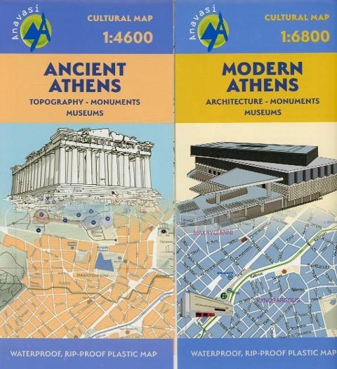 Stadtplan Ancient Athens / Modern Athens 1:4600
