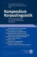 Kompendium Korpuslinguistik - Kratochv?lov?, Iva