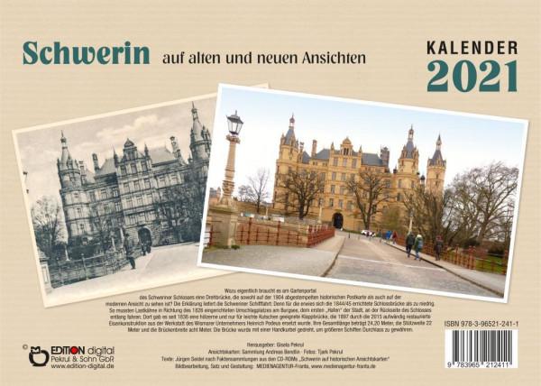 Schwerin auf alten und neuen Ansichten - Kalender 2021