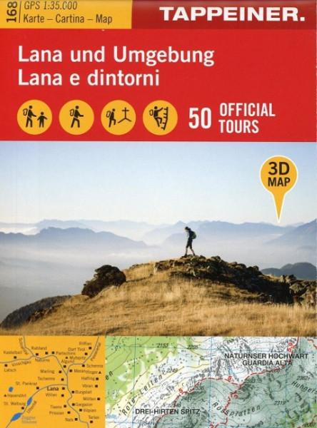 3D-Wanderkarte Lana und Umgebung 1 : 35 000