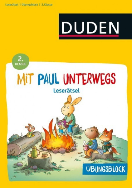 Übungsblock: Mit Paul unterwegs - Lustige Leserätsel - 2. Klasse