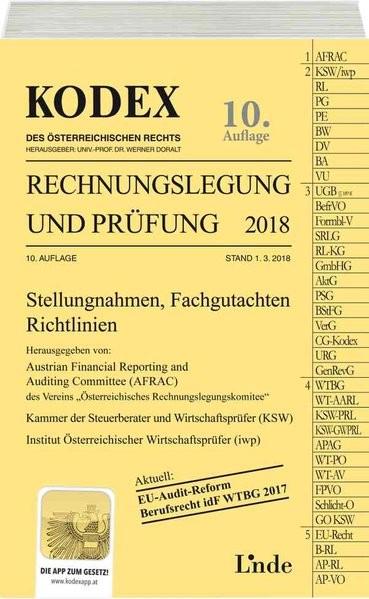 KODEX Rechnungslegung und Prüfung 2018 (Kodex des Österreichischen Rechts)