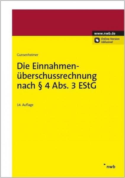 Die Einnahmenüberschussrechnung nach § 4 Abs. 3 EStG