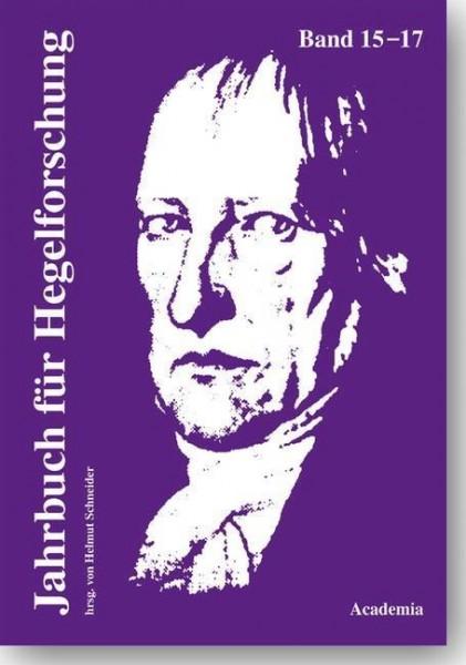 Jahrbuch für Hegelforschung 15-17