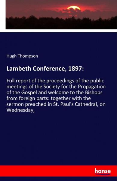 Lambeth Conference, 1897: