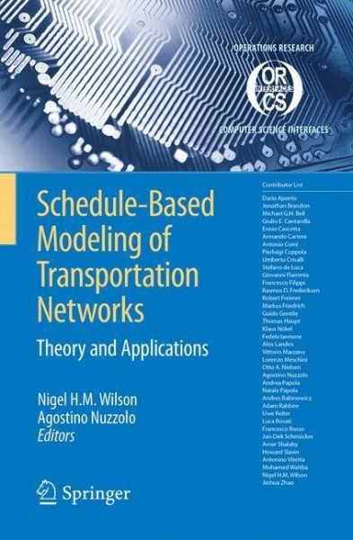 Schedule-Based Modeling of Transportation Networks