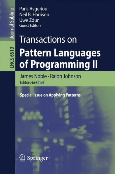 Transactions on Pattern Languages of Programming II