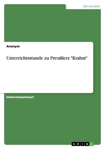 """Unterrichtsstunde zu Preußlers """"Krabat"""""""